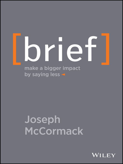 Title details for Brief by Joseph McCormack - Available