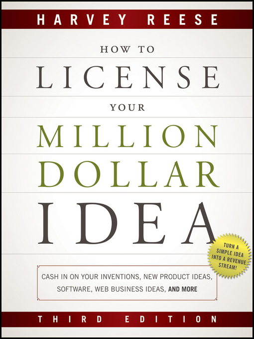 Title details for How to License Your Million Dollar Idea by Harvey Reese - Available
