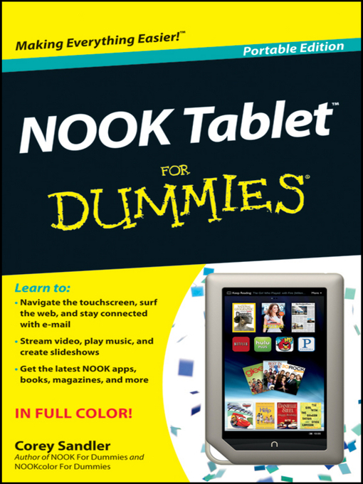Title details for NOOK Tablet For Dummies by Corey Sandler - Available