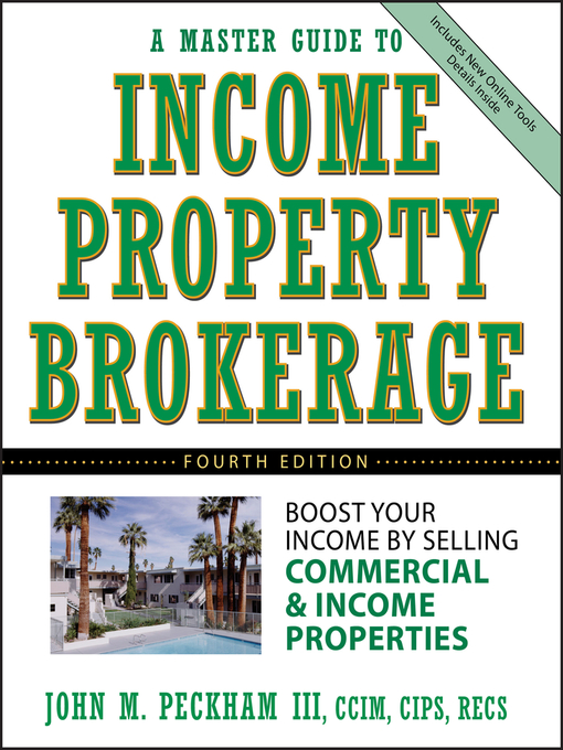 Title details for A Master Guide to Income Property Brokerage by John M. Peckham, III - Available