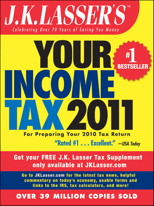 Cover of J.K. Lasser's Your Income Tax 2011