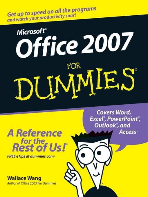 Title details for Office 2007 For Dummies by Wallace Wang - Available