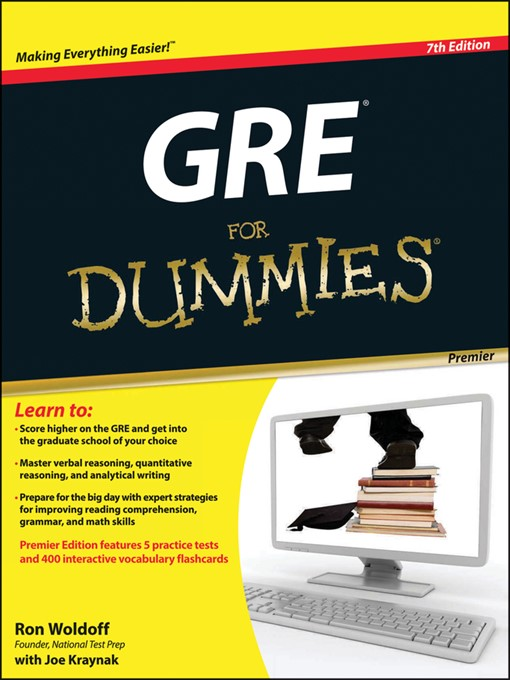 Cover of GRE For Dummies