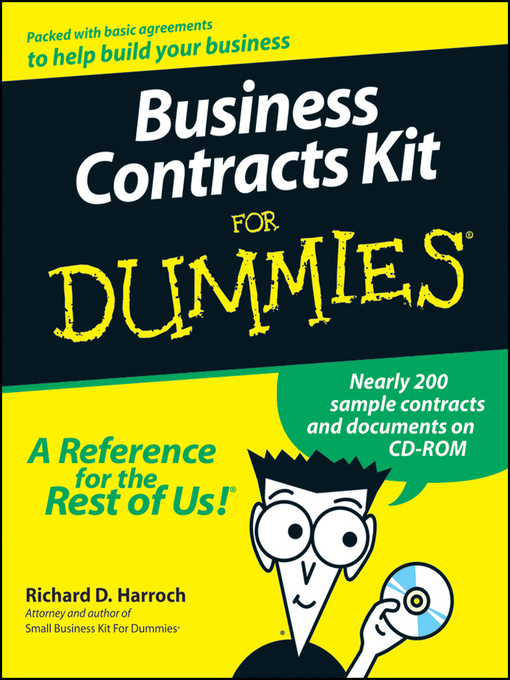 Cover of Business Contracts Kit For Dummies