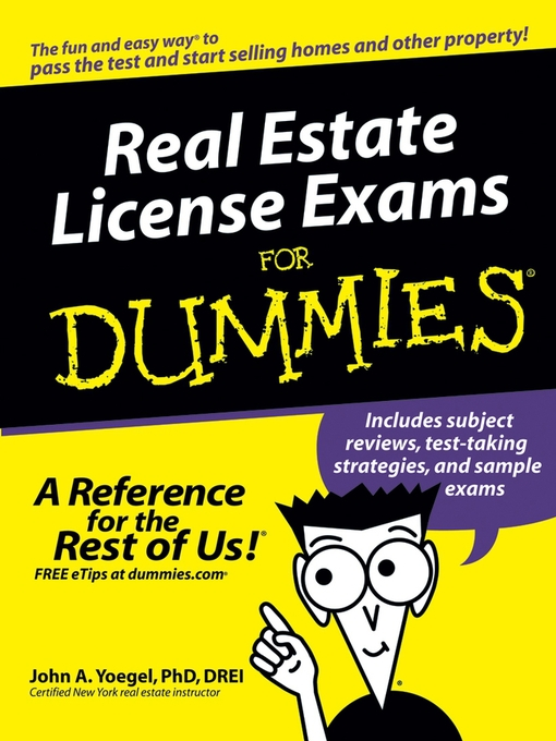 Title details for Real Estate License Exams For Dummies by John A. Yoegel - Available
