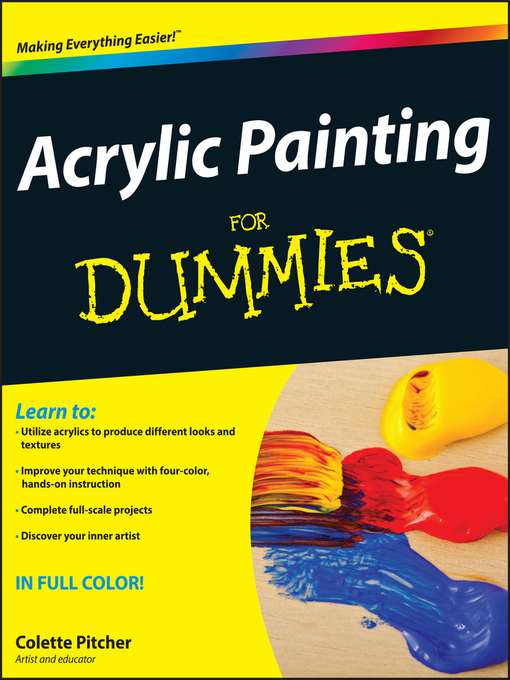 Title details for Acrylic Painting For Dummies by Colette Pitcher - Wait list