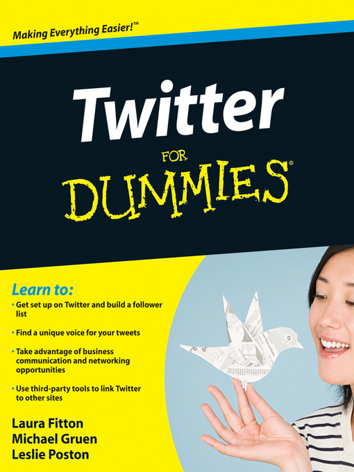 Title details for Twitter For Dummies by Laura Fitton - Available