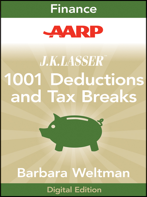 Cover of AARP J.K. Lasser's 1001 Deductions and Tax Breaks 2011