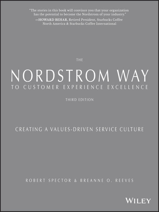 Title details for The Nordstrom Way to Customer Experience Excellence by Robert Spector - Wait list