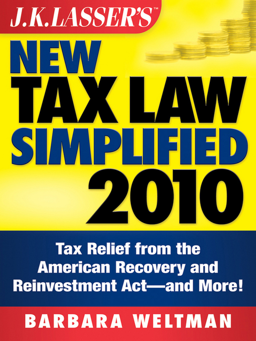 Cover of J.K. Lasser's New Tax Law Simplified 2010