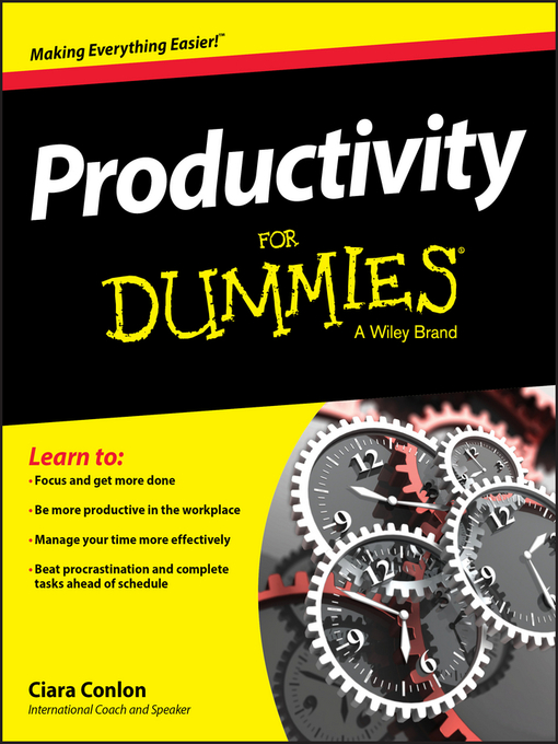 Title details for Productivity for Dummies by Ciara Conlon - Available