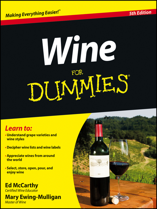 Title details for Wine For Dummies by Ed McCarthy - Wait list