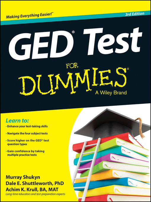 Title details for GED Test For Dummies by Murray Shukyn - Available