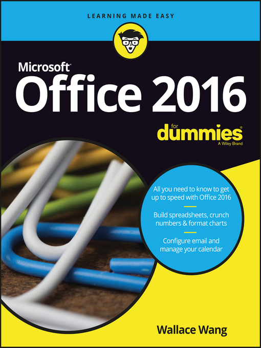 Title details for Office 2016 For Dummies by Wallace Wang - Available