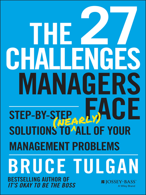 Title details for The 27 Challenges Managers Face by Bruce Tulgan - Wait list