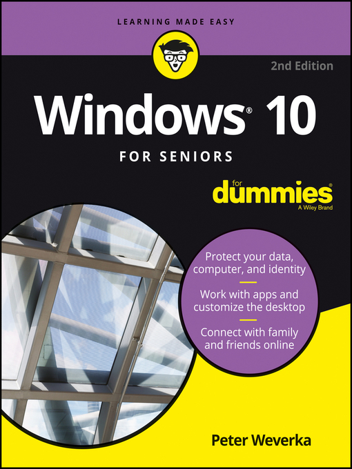 Cover of Windows 10 For Seniors For Dummies