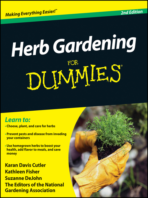 Title details for Herb Gardening For Dummies by Karan Davis Cutler - Wait list