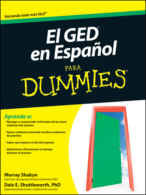 Title details for El GED en Espanol Para Dummies by Murray Shukyn - Available