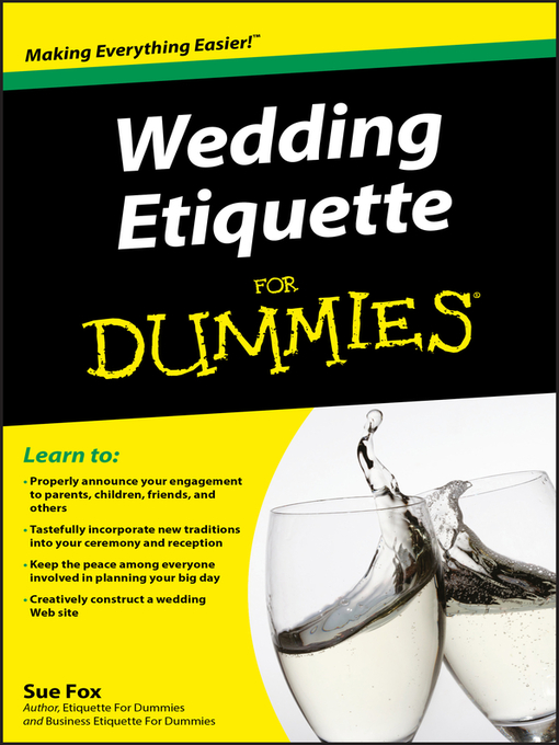 Title details for Wedding Etiquette For Dummies by Sue Fox - Available