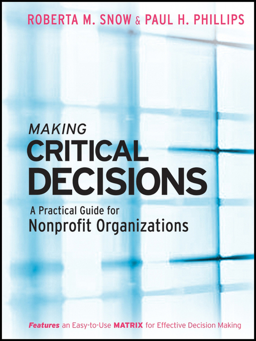 Cover of Making Critical Decisions