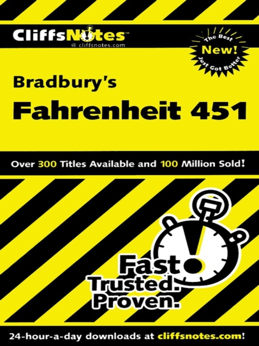 Cover of CliffsNotes on Bradbury's Fahrenheit 451