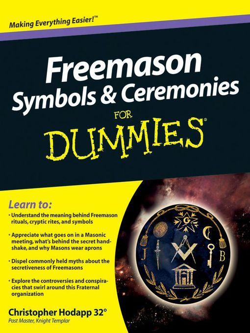 Spanish Freemason Symbols And Ceremonies For Dummies Jefferson