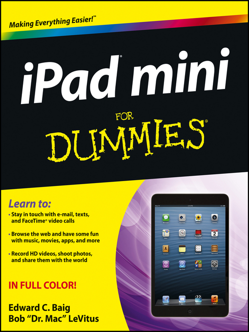 Title details for iPad mini For Dummies by Edward C. Baig - Available