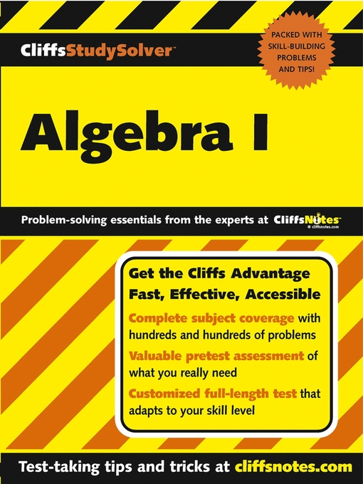 Title details for CliffsStudySolver Algebra I by Mary Jane Sterling - Available