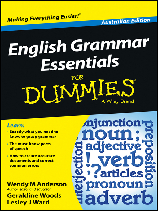 Title details for English Grammar Essentials For Dummies by Wendy M. Anderson - Available