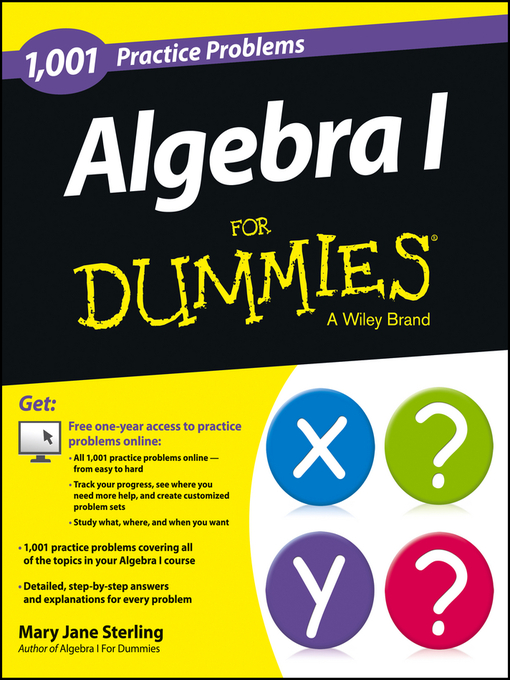 Title details for Algebra I by Mary Jane Sterling - Available