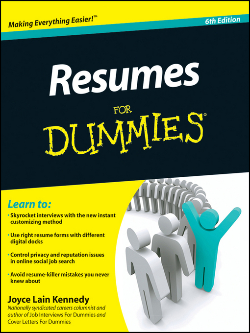 Title details for Resumes For Dummies by Kennedy - Available