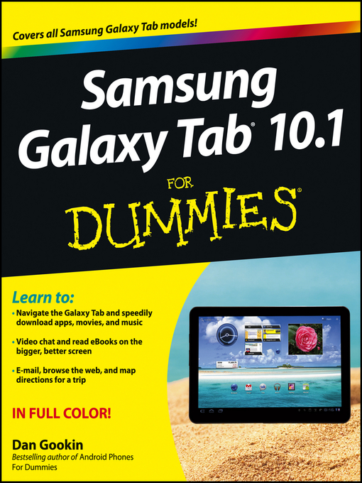 Title details for Samsung Galaxy Tab 10.1 For Dummies by Dan Gookin - Available