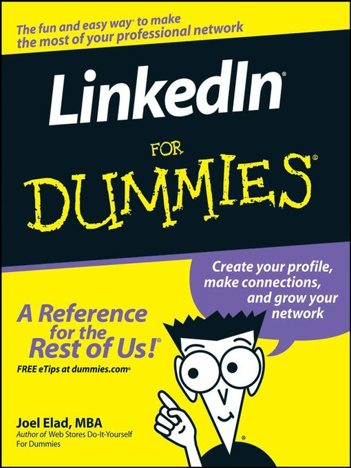 Title details for LinkedIn For Dummies® by Joel Elad - Available