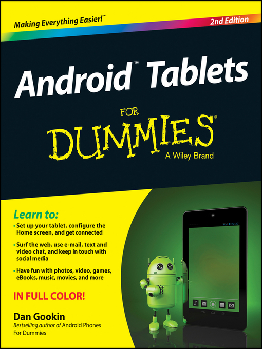 Title details for Android Tablets For Dummies by Dan Gookin - Available