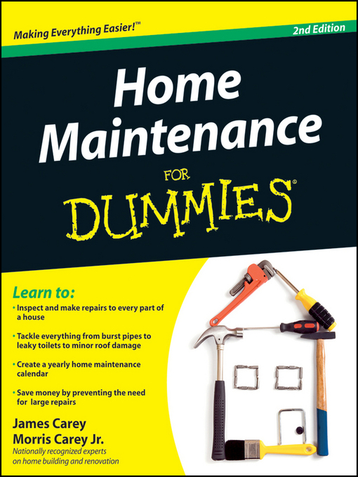 Title details for Home Maintenance For Dummies by James Carey - Wait list