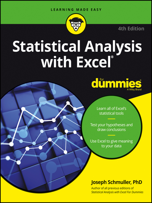 Title details for Statistical Analysis with Excel For Dummies by Joseph Schmuller - Available