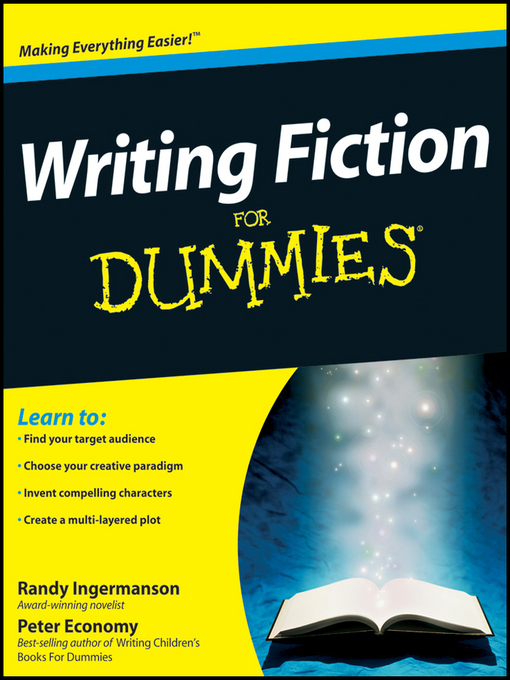 Cover of Writing Fiction For Dummies