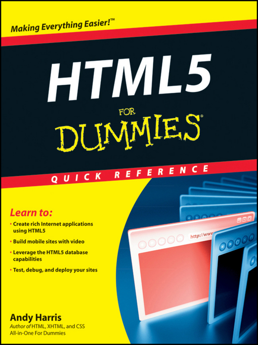 Title details for HTML5 For Dummies Quick Reference by Andy Harris - Wait list