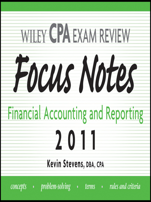 Wiley CPA Examination Review Focus Notes - New York Public Library