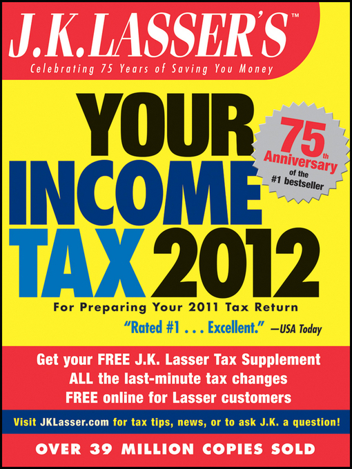 Cover of J.K. Lasser's Your Income Tax 2012
