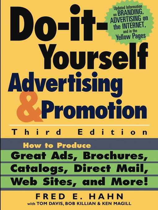 Title details for Do-It-Yourself Advertising and Promotion by Fred E. Hahn - Available