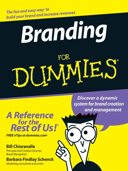 Cover of Branding For Dummies