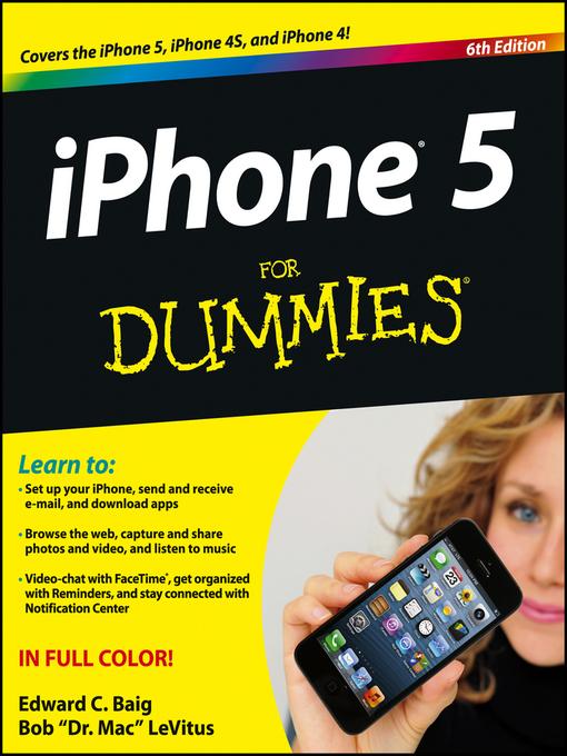 Title details for iPhone 5 For Dummies by Edward C. Baig - Wait list