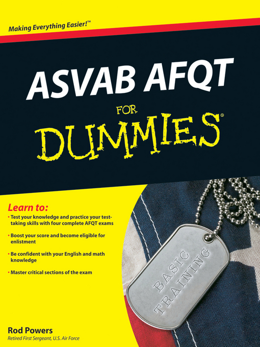 ASVAB AFQT For Dummies - Bridges - OverDrive