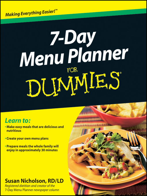 Title details for 7-Day Menu Planner For Dummies by Susan Nicholson - Available