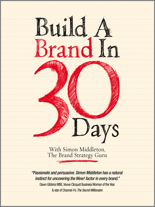 Cover of Build a Brand in 30 Days