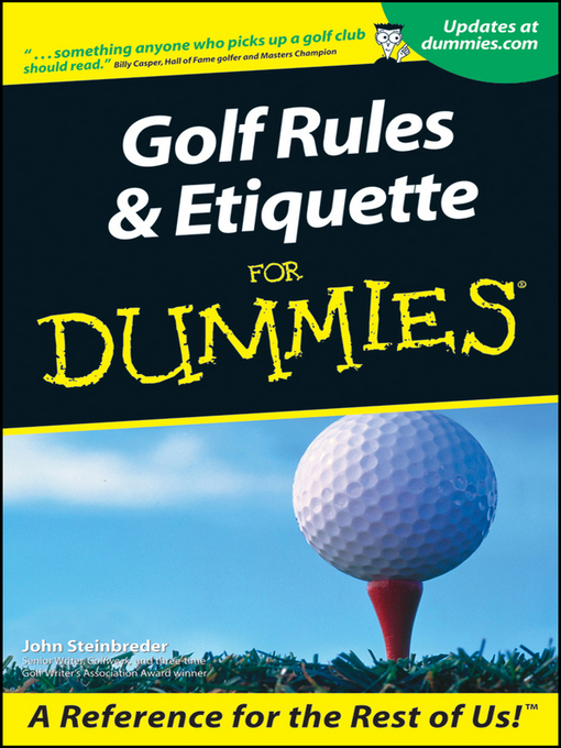 Title details for Golf Rules & Etiquette For Dummies by John Steinbreder - Available