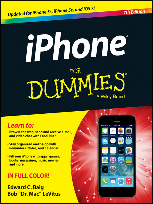 Title details for iPhone For Dummies by Edward C. Baig - Available