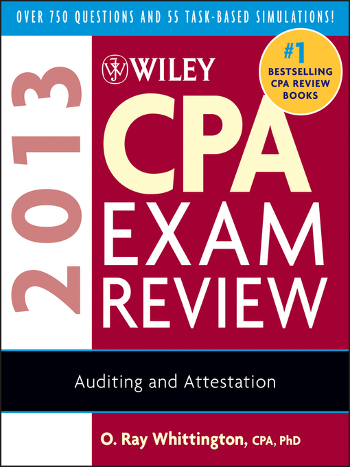 Wiley CPA Exam Review 2013, Auditing and Attestation - Livebrary com