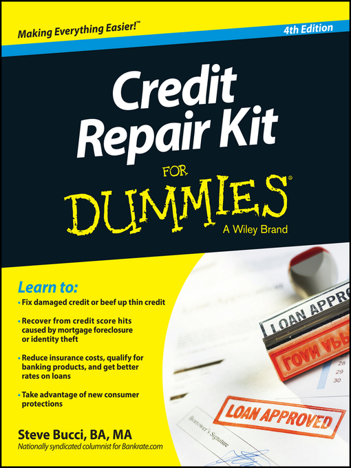 Title details for Credit Repair Kit For Dummies by Steve Bucci - Wait list
